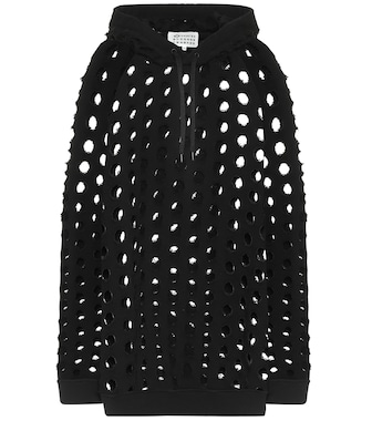 Maison Margiela - Perforated cotton hoodie - mytheresa.com