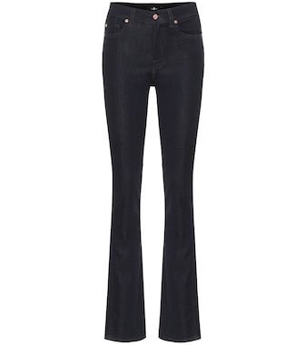 7 For All Mankind - High-Rise Jeans The Straight - mytheresa.com