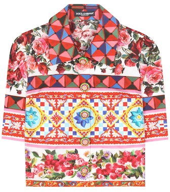 Dolce & Gabbana - Cropped cotton blouse - mytheresa.com