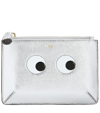 Anya Hindmarch - Loose Pocket Small printed leather pouch - mytheresa.com