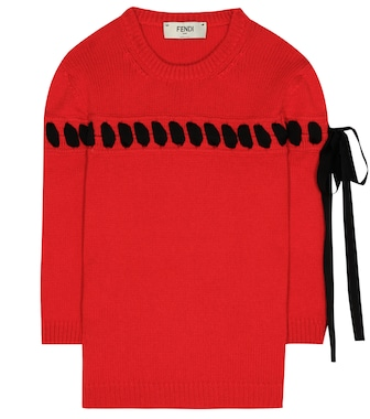 Fendi - Ribbon-stitched cashmere sweater - mytheresa.com