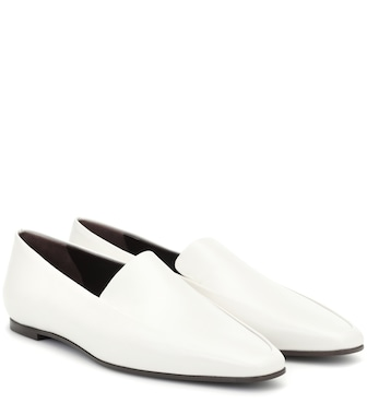 The Row - Minimal leather loafers - mytheresa.com