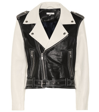 Ganni - Heavy Grain leather biker jacket - mytheresa.com