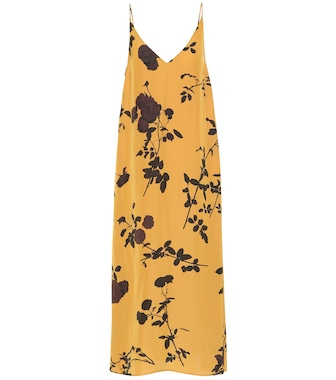 Dries Van Noten - Floral crêpe midi dress - mytheresa.com