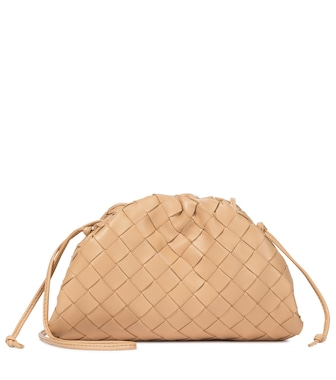 Bottega Veneta - The Mini Pouch intrecciato leather clutch - mytheresa.com