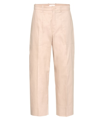 Chloé - Cotton-blend cropped trousers - mytheresa.com