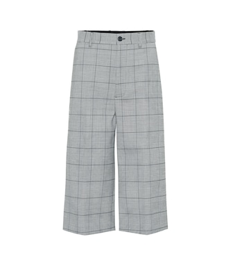 Balenciaga - High-rise plaid culottes - mytheresa.com