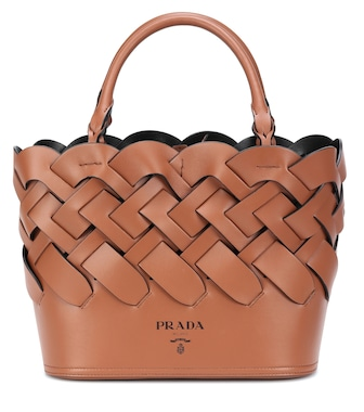 Prada - Woven leather shopper - mytheresa.com