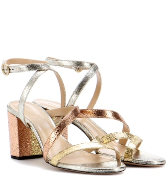 Chloé - Metallic leather sandals - mytheresa.com