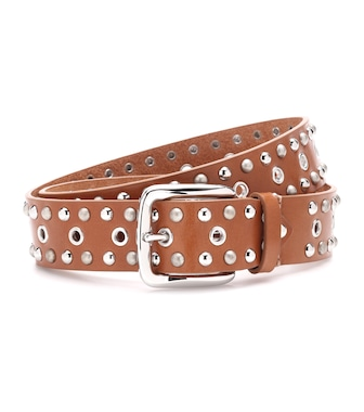 Isabel Marant - Rica embellished leather belt - mytheresa.com
