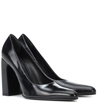 Balenciaga - Leather pumps - mytheresa.com