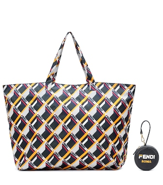 Fendi - FENDI MANIA leather tote charm - mytheresa.com