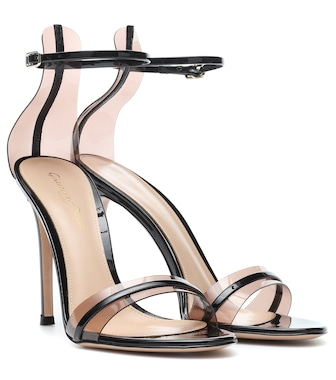 Gianvito Rossi - G-String 105 patent leather sandals - mytheresa.com