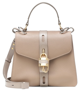 Chloé - Aby Medium leather shoulder bag - mytheresa.com