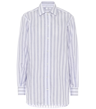 Victoria Beckham - Striped cotton-blend shirt - mytheresa.com