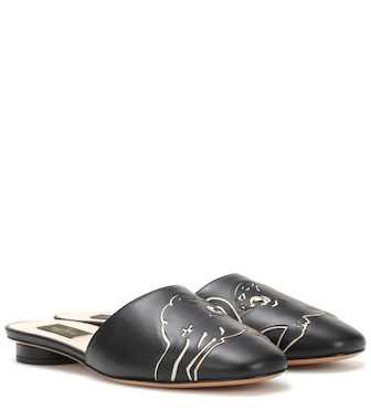 Valentino - Valentino Garavani leather slippers - mytheresa.com