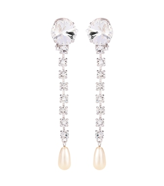 Miu Miu - Embellished clip-on earrings - mytheresa.com