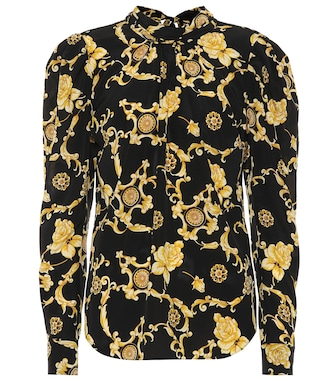 Veronica Beard - Mena printed stretch-silk blouse - mytheresa.com