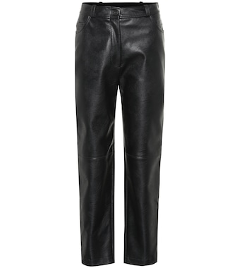 Stella McCartney - Faux leather high-rise pants - mytheresa.com