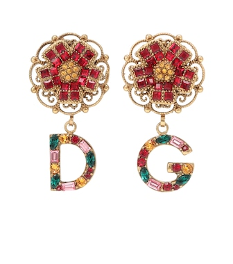 Dolce & Gabbana - Floral clip-on earrings - mytheresa.com