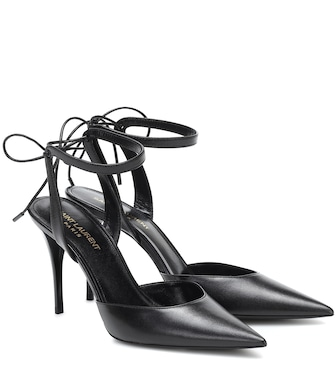 Saint Laurent - Lexi 90 leather pumps - mytheresa.com