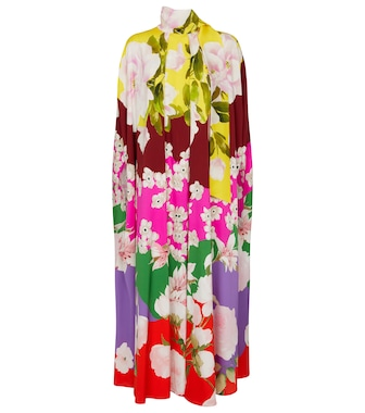 Valentino / Garavani - Valentino floral stretch-silk maxi dress - mytheresa.com