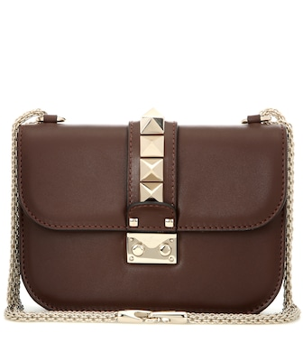 Valentino - Valentino Garavani Lock Small leather shoulder bag - mytheresa.com