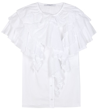 Givenchy - Ruffled cotton top - mytheresa.com
