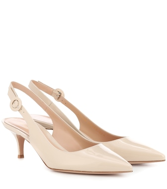 Gianvito Rossi - Exclusive to mytheresa.com – Anna patent leather slingback pumps - mytheresa.com
