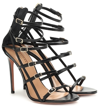 Aquazzura - Super Model 105 leather sandals - mytheresa.com