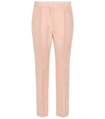 Stella McCartney - High-rise wool-blend straight pants - mytheresa.com
