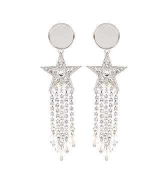 Miu Miu - Crystal-embellished earrings - mytheresa.com