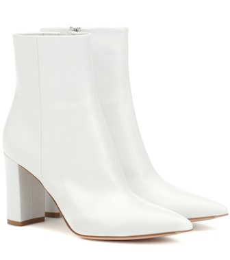Gianvito Rossi - Piper 85 leather ankle boots - mytheresa.com
