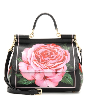 Dolce & Gabbana - Sicily Small printed leather shoulder bag - mytheresa.com