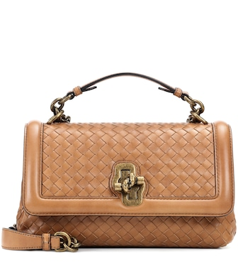 Bottega Veneta - Olimpia Knot leather shoulder bag - mytheresa.com