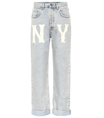 Gucci - High-Rise Straight Jeans - mytheresa.com