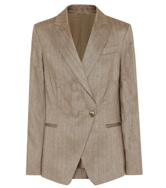 Brunello Cucinelli - Cotton and linen blazer - mytheresa.com