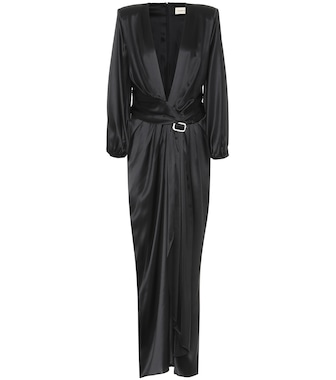 Alexandre Vauthier - Stretch silk-satin gown - mytheresa.com