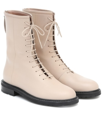 Legres - Leather combat boots - mytheresa.com