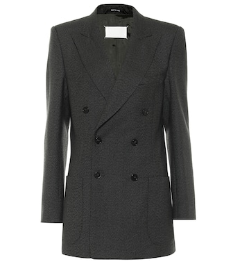 Maison Margiela - Double-breasted wool blazer - mytheresa.com