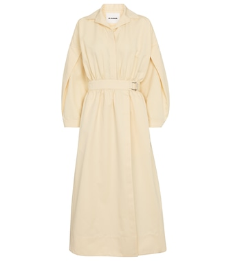 Jil Sander - Cotton and silk midi dress - mytheresa.com