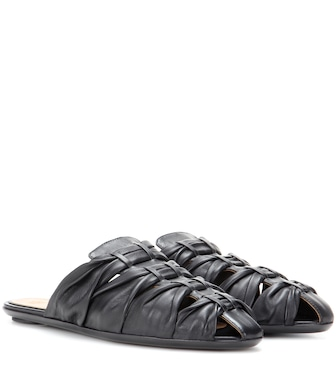 The Row - Capri leather slippers - mytheresa.com