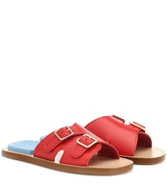 Acne Studios - Leather slides - mytheresa.com