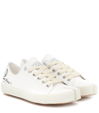 Maison Margiela - Tabi logo canvas low-top sneakers - mytheresa.com