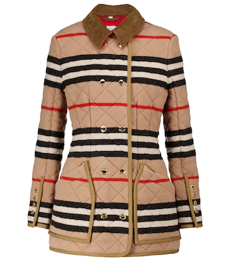 Burberry - Icon Stripe quilted wool jacket - mytheresa.com