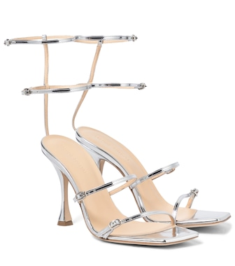 Magda Butrym - Metallic leather sandals - mytheresa.com