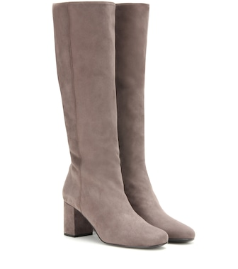 Saint Laurent - Babies suede knee-high boots - mytheresa.com