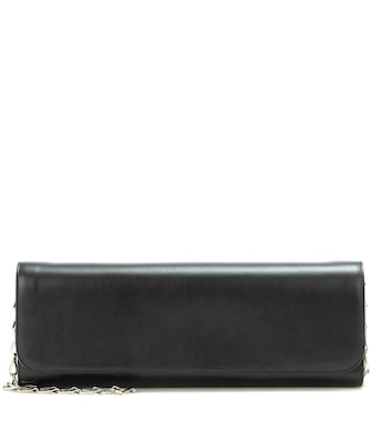 Balenciaga - Pochette M leather clutch - mytheresa.com