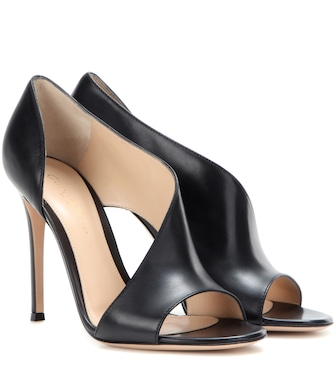 Gianvito Rossi - Demi leather sandals - mytheresa.com