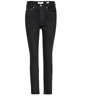 Re/Done - High Rise Ankle Crop skinny jeans - mytheresa.com